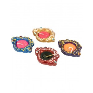 Decorative Clay Diya SC210 (Set Of 4)