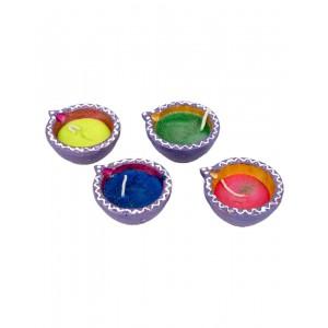 Decorative Clay Diya SC215 (Set Of 4)