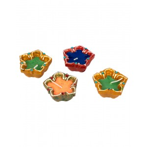 Decorative Clay Diya SC216 (Set Of 4)