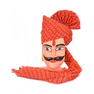Rajasthani Printed Chunri Safa MS02