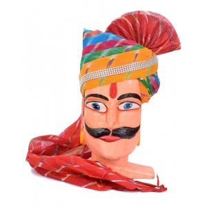 Rajasthani Pachrangi Laheriya Safa MS06