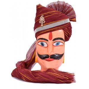 Rajasthani Maroon Zari Kota Doriya Safa MS25