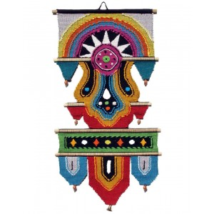 Handloom Cotton Wall Hanging with Half Circle 432 A