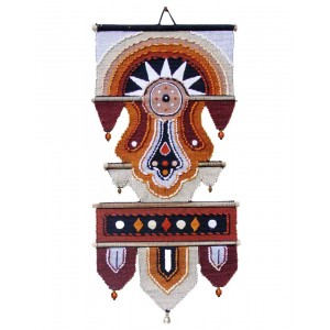 Handloom Cotton Wall Hanging with Half Circle 432 A Br