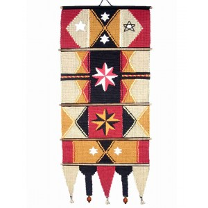 Handloom Cotton Wall Hanging 533 A Red