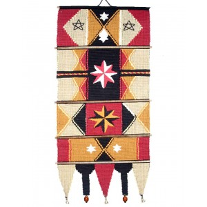 Handloom Cotton Wall Hanging 533 Red