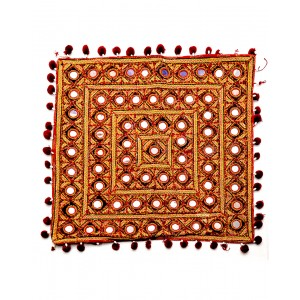 Kutch Qasab Big Mirror Embroidered Table Mat KQ31