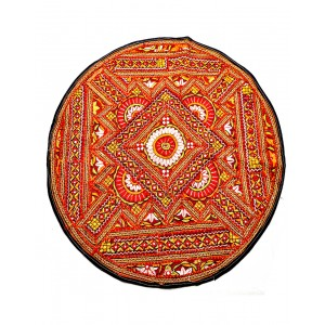 Kutch Qasab Paka Work Round Table Mat KQ35