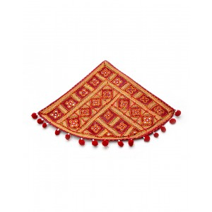 Kutch Qasab Five Mirror Embroidered Telephone Mat KQ44