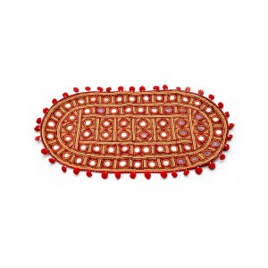 Kutch Qasab Big Mirror Embroidered Tipoi Mat KQ45