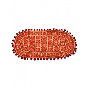 Kutch Qasab Nine Mirror Embroidered Tipoi Mat KQ47