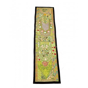 Kutch Qasab Kashmiri Work Table Runner KQ52