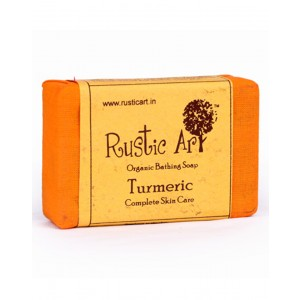 Rustic Art Organic Turmeric Soap RA22 (Pack of 2)