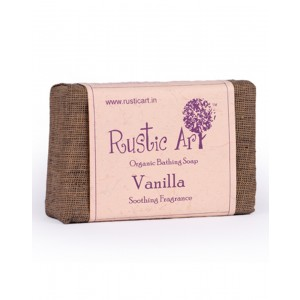 Rustic Art Organic Vanilla Soap RA09 (Pack of 2)