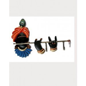 Iron Handicrafts Key Hanger With Krishna IH159