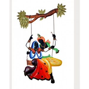Iron Handicrafts Radha Krishna With Jhula Wall Hanging IH166