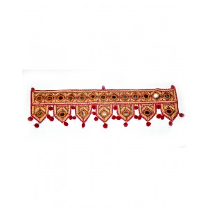 Kutch Qasab Big Mirror Toran Seven Leaf Door Gate Wall Hanging KQ52