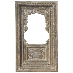 Wood Carved Frame With Mirror HAE77