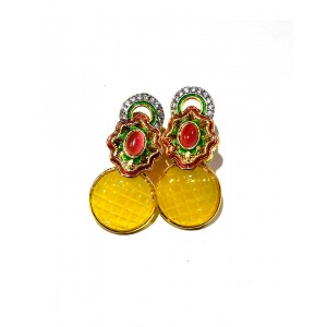 Ishi Collection Metallic Brass Earring IC02