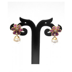 Ishi Collection Metallic Brass Earring IC06