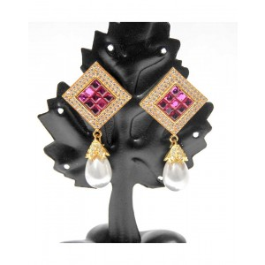 Ishi Collection Metallic Brass Earring IC07