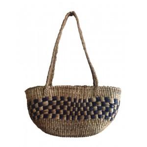 Brown Oval Large Water Hyacinth Bag