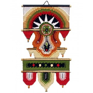 Handloom Cotton Wall Hanging with Half Circle 432 C L