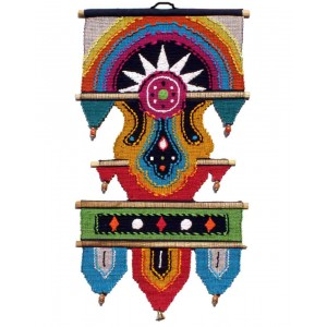 Handloom Cotton Wall Hanging with Half Circle 432 C