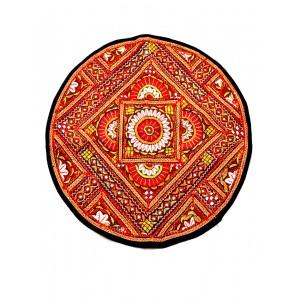 Kutch Qasab Paka Work Round Mat KQ38